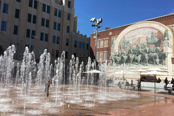 Sundance Square in Downtown Fort Worth Texas.