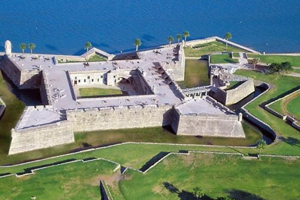 Aerial view of Castillo de San Marcos Fort St. Augustine Florida