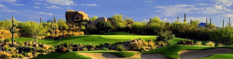 Golf at the TPC Scottsdale in Arizona