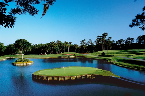 The Island 17th Hole at the TPC Sawgrass St. Augustine Florida